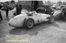 "MASERATI 250F Siedel in Silverstone paddock 1958 .Amateur 10x7""photo"
